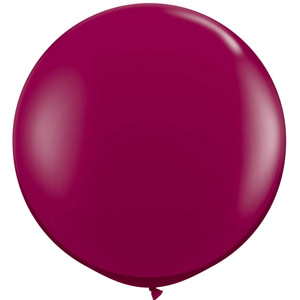 BALLOONS LATEX - JEWEL TONE BURGUNDY 3' ROUND