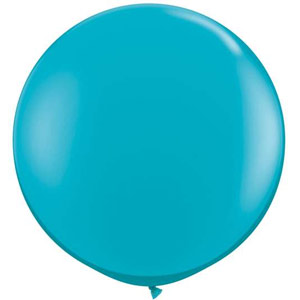 BALLOONS LATEX - JEWEL TONE TEAL 3' ROUND