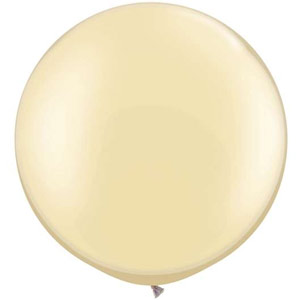 BALLOONS LATEX - FASHION TONE IVORY 3' ROUND