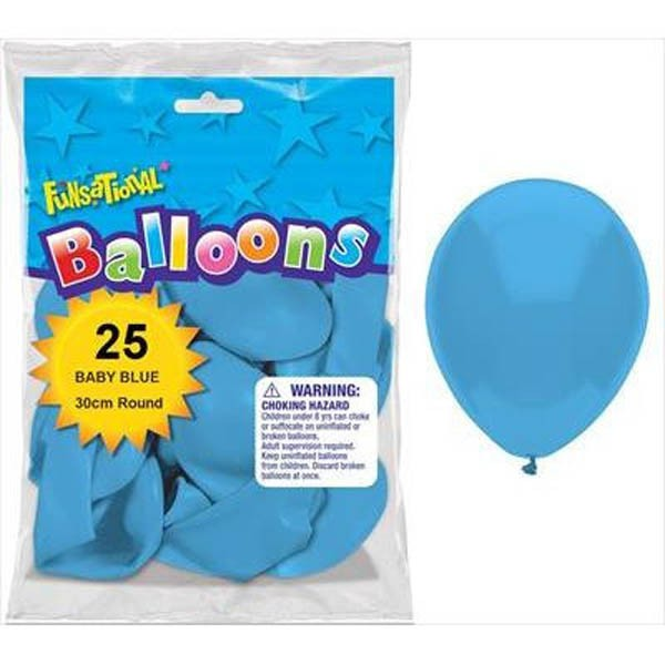 BALLOONS LATEX - FUNSATIONAL BABY BLUE PACK OF 25