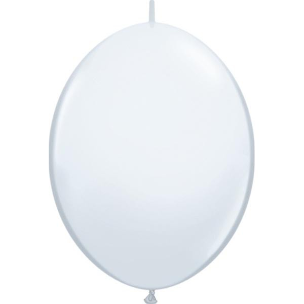 BALLOONS LATEX - QUICK LINK STANDARD WHITE PACK OF 50