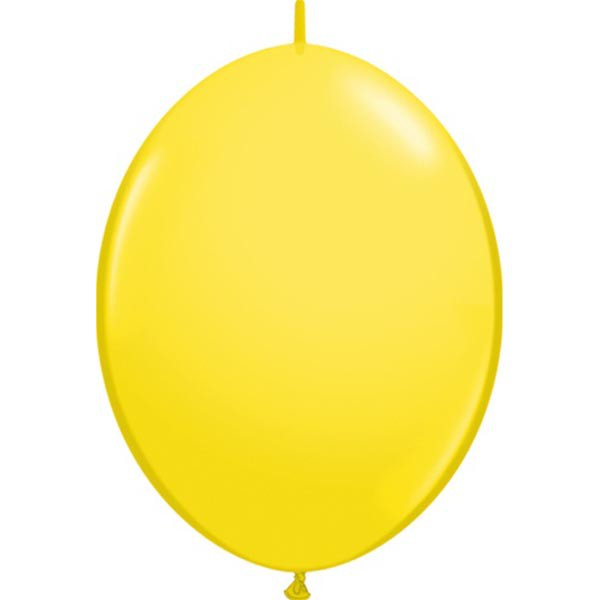 BALLOONS LATEX - QUICK LINK STANDARD YELLOW PACK OF 50
