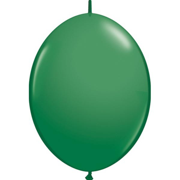 BALLOONS LATEX - QUICK LINK STANDARD GREEN PACK OF 50