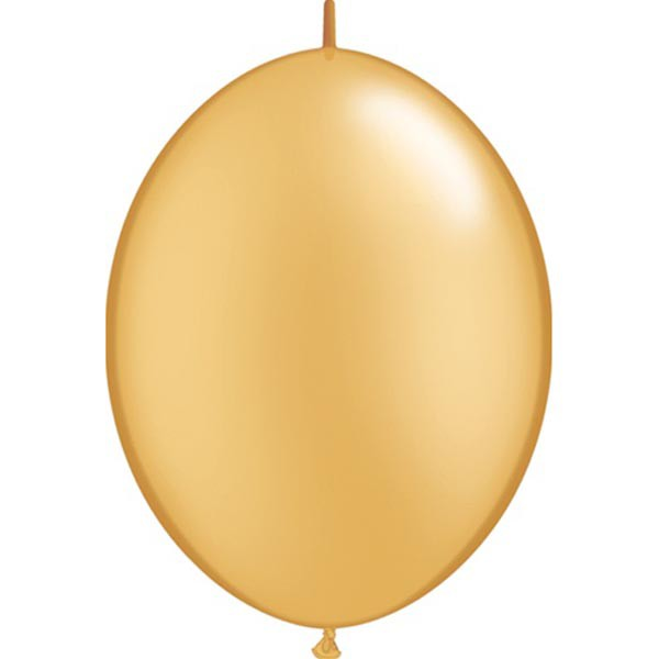 BALLOONS LATEX - QUICK LINK PEARL GOLD PACK OF 50