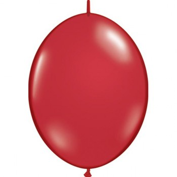 BALLOONS LATEX - QUICK LINK JEWEL TONE RUBY RED PACK OF 50
