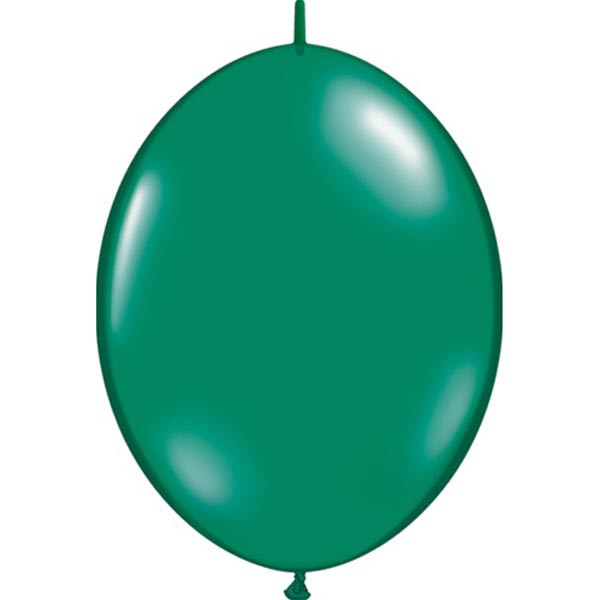 BALLOONS LATEX - QUICK LINK JEWEL TONE EMERALD GREEN PACK OF 50