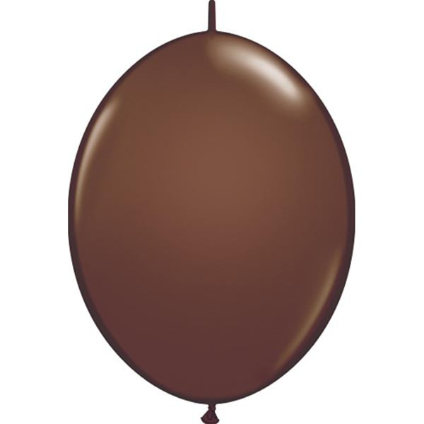BALLOONS LATEX - QUICK LINK FASHION TONE CHOC BROWN PACK OF 50