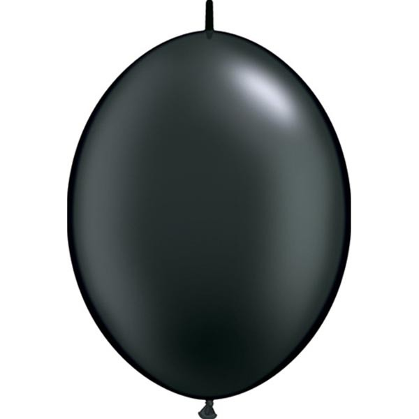 BALLOONS LATEX - QUICK LINK PEARL ONYX BLACK PACK OF 50