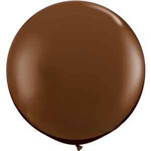 BALLOONS LATEX - FASHION TONE CHOCOLATE BROWN 3' ROUND