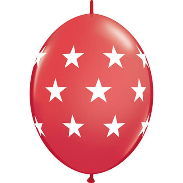 BALLOONS LATEX - QUICK LINK BIG STARS STANDARD RED PACK 50