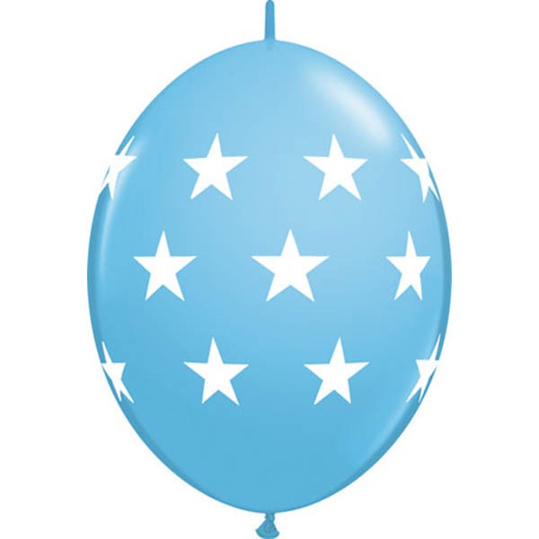 BALLOONS LATEX - QUICK LINK BIG STARS STANDARD PALE BLUE PACK 50