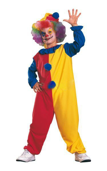 CLOWN JUMPSUIT RED & YELLOW COSTUME - CHILD