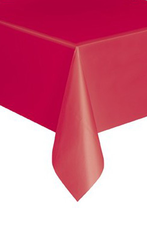 DISPOSABLE TABLECOVER - RECTANGULAR RED