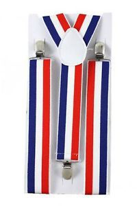 BRACES/SUSPENDERS - RED, WHITE & BLUE