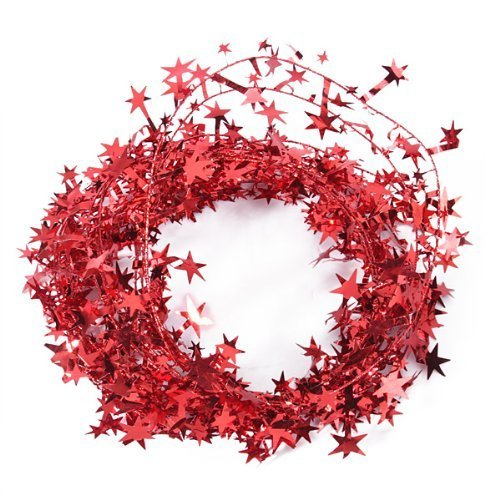 WIRED CHRISTMAS RED STAR GARLAND