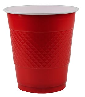 DISPOSABLE CUPS TWO TONE RED - PACK OF 20