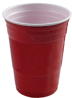 DISPOSABLE CUPS - WORLD FAMOUS DRINK CUPS RED - PACK OF 20