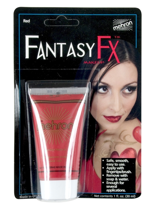 FANTASY FX FACE PAINT MAKEUP RED - 30ML