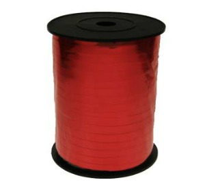 RIBBON ROLL - RED METALLIC