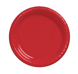 CHRISTMAS RED DINNER PLATE - PACK OF 25