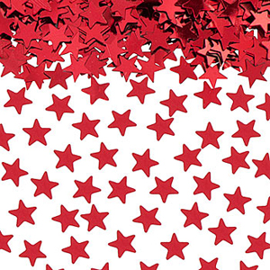 TABLE SCATTERS RED STARS