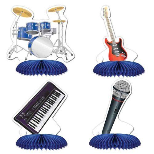 ROCK AND ROLL BAND TABLE CENTREPIECES