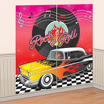 SCENE SETTER - CLASSIC 50'S WALL DECORATING KIT