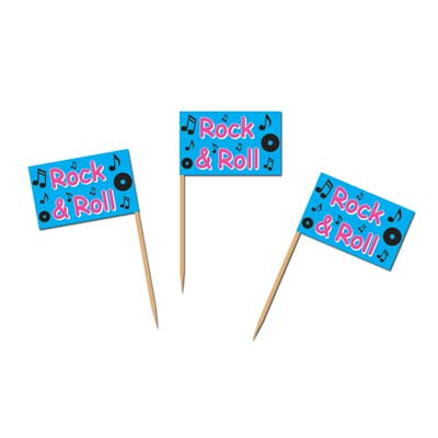 ROCK 'N ROLL PARTY PICKS - PACK OF 50