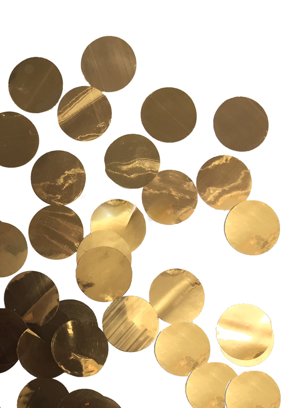CONFETTI METALLIC ROSE GOLD CIRCLES - 250 GRAMS