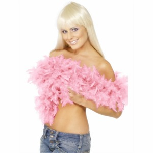 FEATHER BOA - DELUXE ROSE PINK