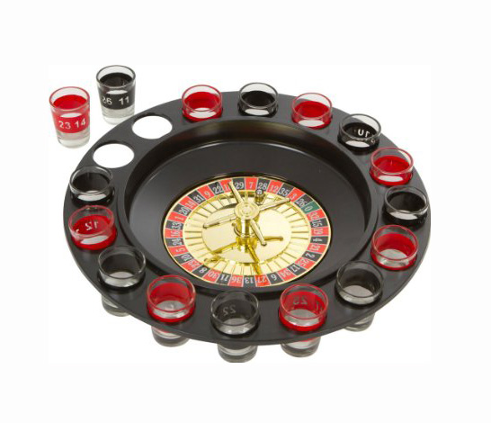 SHOT GLASS ROULETTE WHEEL DRINKING GAME
