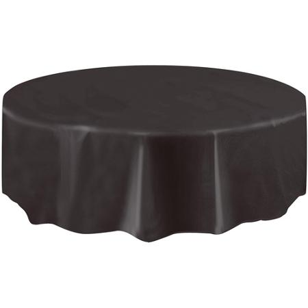 DISPOSABLE TABLECOVER - CIRCULAR BLACK