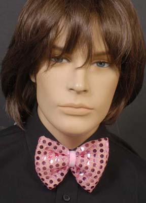 SEQUINNED BOW TIE - PINK