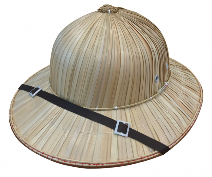SAFARI HAT - DELUXE NATURAL CANE WITH FAUX LEATHER BAND