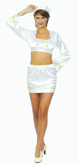 Image of Sailor Girl Fancy Dress Costume  Small/medium