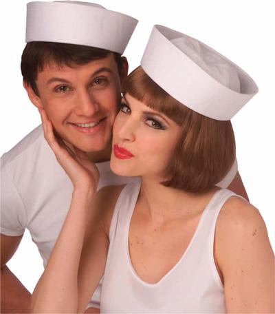Image of Sailor Hat  White Gob