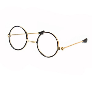 SANTA/HARRY/LENNON ROUND EYE GLASSES CLEAR LENSE