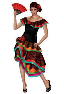 Image of Senorita/flamenco Dancer  Jointed Figure