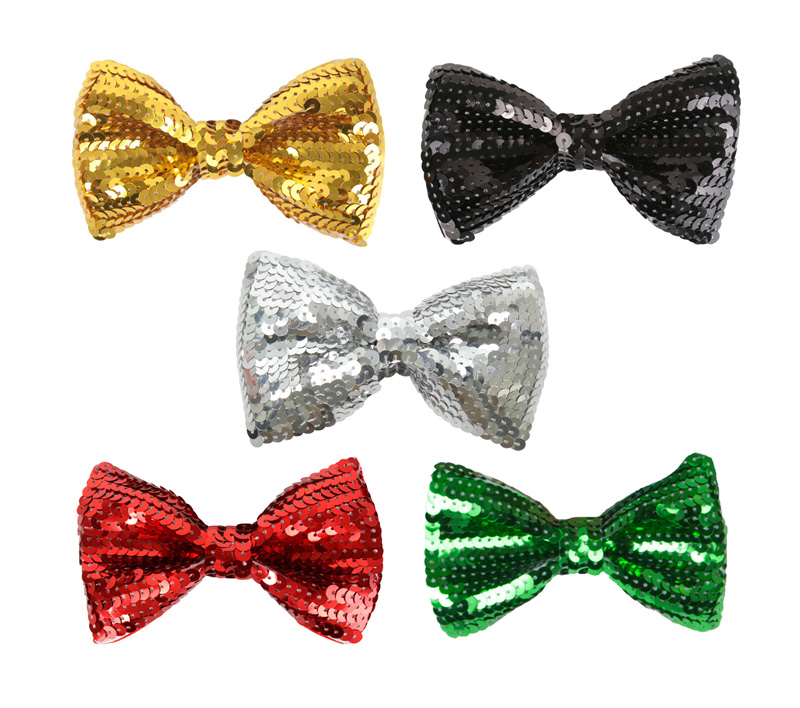 SEQUINNED BOW TIES - CHOICE OF COLOURS