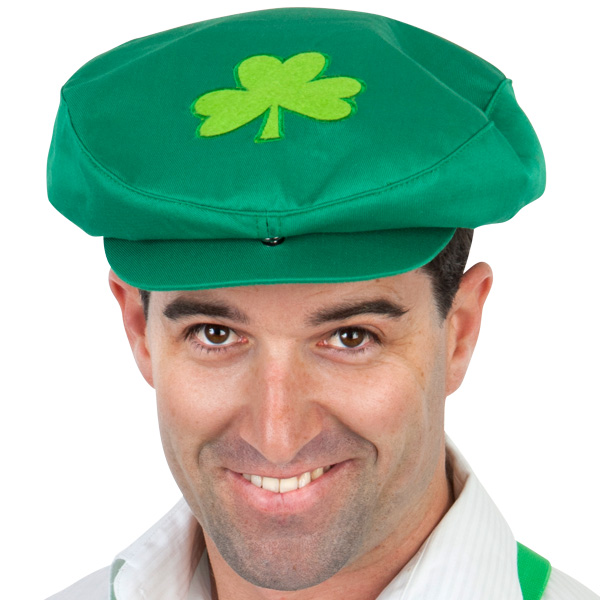 IRISH GREEN LARGE CAP WITH SHAMROCK
