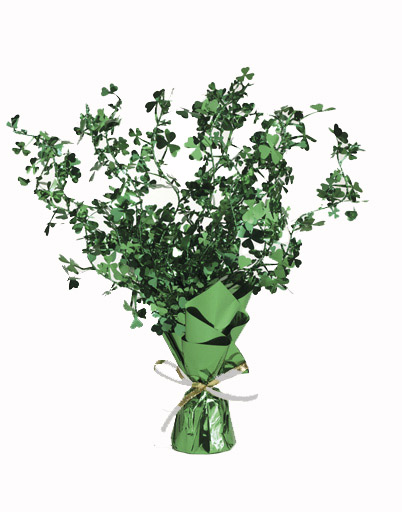 Image of Shamrock Glittered Weighted Centrepiece