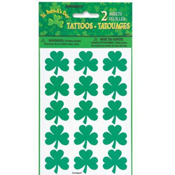 ST PATRICKS DAY SHAMROCK TATTOOS