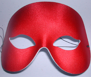 MASK - RED SHIMMER HALF FACE MASK