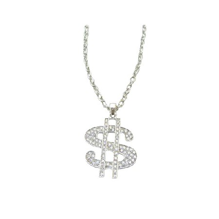 BIG DADDY SILVER DOLLAR $ NECKLACE