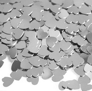TABLE SCATTERS - SILVER HEARTS