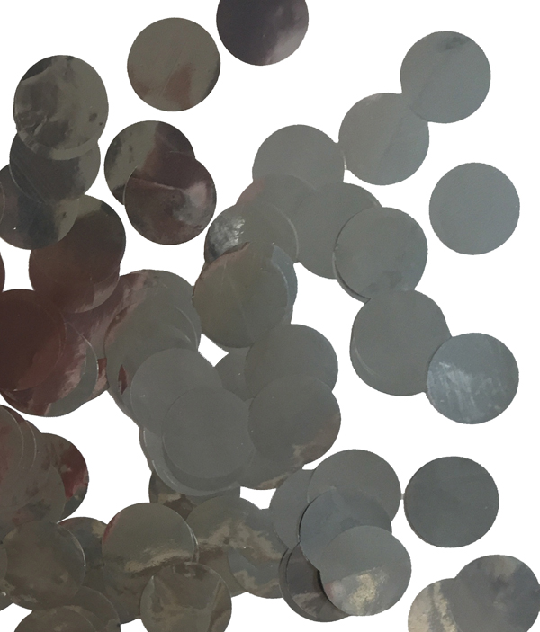 CONFETTI METALLIC SILVER CIRCLES - 250 GRAMS