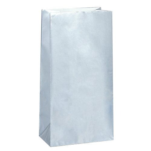 PAPER LOOT BAGS - SILVER - PACK OF 10