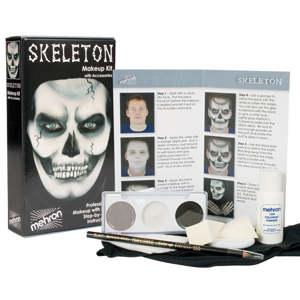 MEHRON CHARACTER MAKEUP PREMIUM KIT - SKELETON