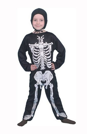 CHILDS SKELETON JUMPSUIT - 2 SIZES