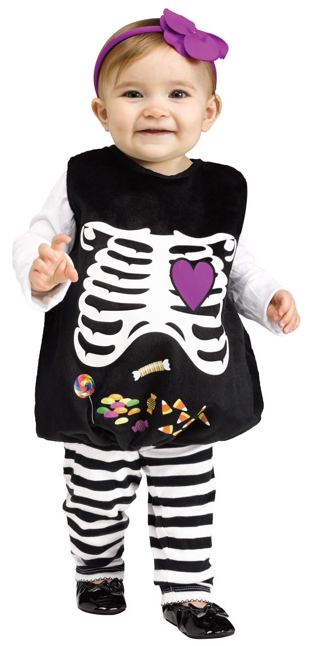 Image of Child Toddlers Skelly Belly Tunic Costume
